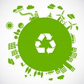 stock photo of save earth  - green earth  - JPG
