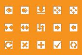 Pfeile | sterben Schnitt Serie, die Ikonen aussehen werden in gedrückt. Arbeiten Sie gut auf jeden beliebigen Hintergrund. o Verwendung