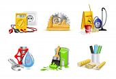 stock photo of electricity meter  - Renovation icons  - JPG