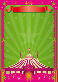 pic of circus tent  - Pink Circus A circus background with a large copy space for your message - JPG