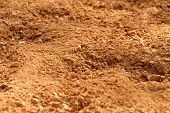 Red Clay Soil Dirt In A Farm Field