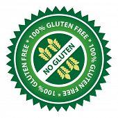 100% Gluten Free food label.