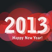 2013 Happy New Year greeting card or background. EPS10.