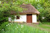 Old Clay House With Straw Roof