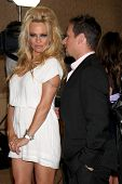 LOS ANGELES - JUL 27:  Pamela Anderson, Drew Lachey arrives at the ABC TCA Party Summer 2012 at Beverly Hilton Hotel on July 27, 2012 in Beverly Hills, CA