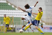 KAPOSVAR, HUNGARY - JULY 21: Unidentified players in action at the VIII. Youth Football Festival U17