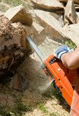 Chainsaw In Work
