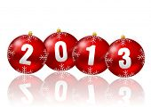 2013 new year illustration with christmas balls