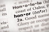 Dictionary Series - Attributes: Honor