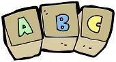 cartoon letter blocks