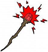 pic of clip-art staff  - magic wizard staff cartoon - JPG