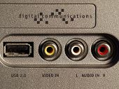 image of hookup  - Digital video hookup with USB port and RCA connections - JPG