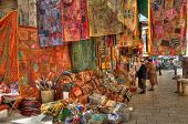 JERUSALEM - APRIL 02: Old market in east Jerusalem offers variety of middle east's products and souv