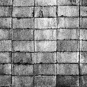 Grunge bricks texture. Abstract black geometric background. Illustration.