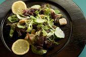 Salad W_lemons On Blackplate