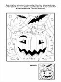 picture of spiderwebs  - Connect the dots picture puzzle and coloring page  - JPG