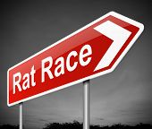 Concepto de la carrera de ratas.