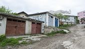 Suceava - May 05: Old Garages In The Periphery Of The City May 05, 2013 In Suceava, Romania. Suceava