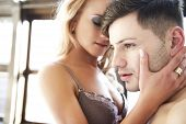 foto of nude couple  - Passion Sexy Portrait Of Couple In Love - JPG