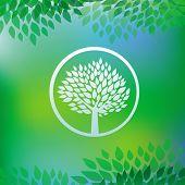 Vector Ecology Concept - Tree Emblem
