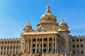 pic of vidhana soudha  - Vidhana Soudha the state legislature building in Bangalore India - JPG