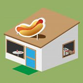 hotdog stand vector