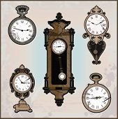 Collection Of Retro Clocks