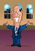 Firtatious Bald Businessman