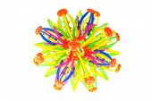 Magic Transmutable Big Turn Small Ball Multi-color Flower Shape Connector Interesting Toy For Child