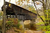 image of covered bridge  - This is the fourth Durgin bridge to occupy this crossing since 1844 - JPG