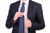 Постер, плакат: Бизнесмен поставив ace карты в своем кармане