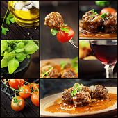Food Collage - Meat Balls