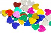 Colorful Confetti Hearts