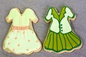 foto of shortbread  - Shortbread biscuits cutout and decorated as fashion items - JPG