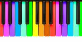 stock photo of queer  - Rainbow piano keys isolated on a white background - JPG