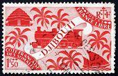 Postage Stamp Somali Coast 1927 Locomotive And Palms, Djibouti