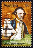 Postage Stamp Australia 1970 Captain James Cook And Endeavour