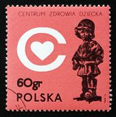 Postage Stamp Poland 1972 The Little Soldier, By E. Piwowarski