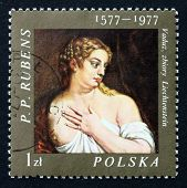 Postage Stamp Poland 1977 Venus, Painting By Rubens