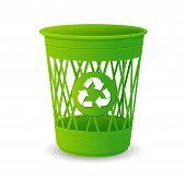 stock photo of dustbin  - Vector plastic basket set - JPG