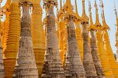 Ancient Stupas at Indein Inle Lake