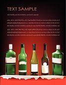 background with ellite wine bottle