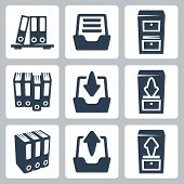 Vector Isolated Archive Icons Set