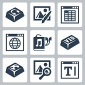 Vector Isolated Applications Icons Set
