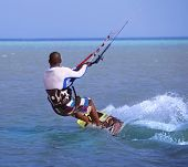 kitesurfing on the Red Sea. Africa