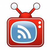 RSS feed on retro TV button