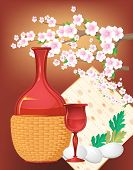 pic of matzah  - passover   still life vector greetings decorative background - JPG
