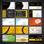 Vector set of business card templates