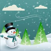 vector snowman cartoon design illustration