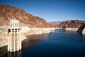Colorado River Lake Meade close to Hoover Dam scenic landscape vista